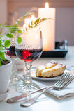 Two vintage glasses of red wine Royalty Free Stock Image