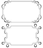 Two vintage horizontal frame. Set Stock Image