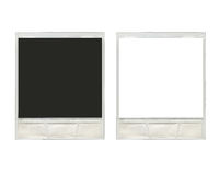 Two vintage instant polaroid photo frames Royalty Free Stock Image