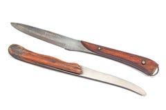 Two vintage kitchen knifes Stock Photo