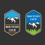 Two vintage mountain labels Royalty Free Stock Photography