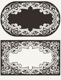 Two Vintage Ornate  Background Stock Photo