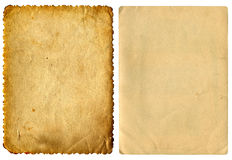 Two Vintage Papers Royalty Free Stock Photo