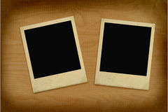 Two vintage photo frames. Close-up of two vintage photo frames Stock Photos