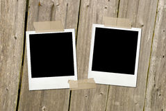 Two vintage photo frames Royalty Free Stock Photography