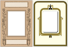Two Vintage Photo Frames. Ready for your photo to be dropped in Stock Photos