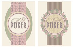 Two vintage poker banners. Vector illustration Royalty Free Stock Image