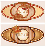 Two vintage seasonal autumn banners Stock Photos