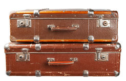 Two vintage suitcase Royalty Free Stock Images