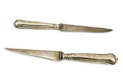 Two vintage table knifes Stock Images