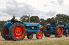 Two vintage tractors Stock Photo