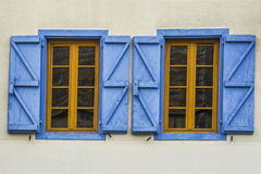 Two vintage  windows open Royalty Free Stock Images