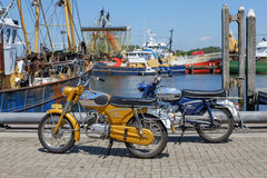 Two vintage Zündapp motorbikes Stock Images