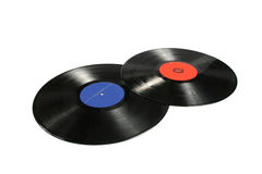 Two Vinyl Records Royalty Free Stock Photography