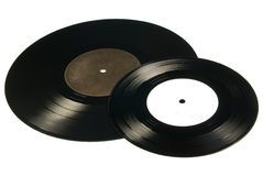Two vinyls Stock Images
