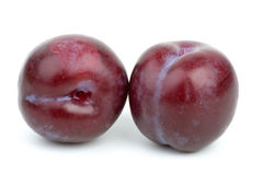 Two violet plums Royalty Free Stock Image