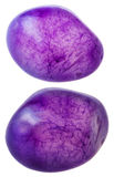 Two violet toned quartz gemstones isolated Royalty Free Stock Images