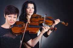 Two violinists Royalty Free Stock Images
