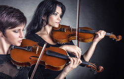 Two violinists Royalty Free Stock Photo