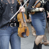 Two violinists women Royalty Free Stock Photos