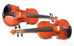 Two violins stock images
