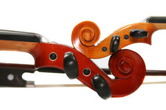 Two violins Royalty Free Stock Images
