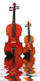 Two violins Stock Photos