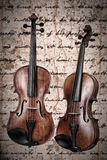 Two violins Stock Photography