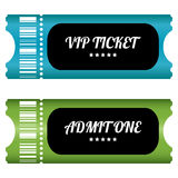 Two VIP tickets Royalty Free Stock Images