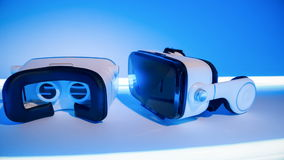 Two virtual vr goggles stock video