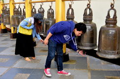 Cjhang Mai, TH: Ringing Bells at Wat Doi Suthep Stock Photos