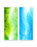 Two vivid abstract cards. Two vivid abstract background templates Royalty Free Stock Image