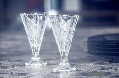 Two vodka shot glasses Stock Image