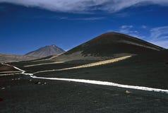 Two Volcanos in Argentina,Argentina. Volcanos in Payunia Provincia Park, Argentina Stock Image