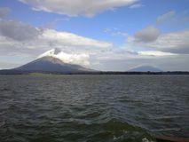 Two volcanos from Ometepe Island, Nicaragua Royalty Free Stock Photo