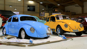Two Volkswagen Beetle Retro Cars royalty free stock photo