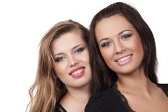Two voluptuous girls Stock Images