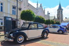 Two VW Beetle cars in Sanok Royalty Free Stock Image