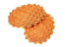 Two waffle cookies Stock Photo