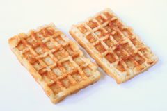 Two waffles Royalty Free Stock Photo