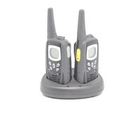 Two walkie talkies. Isolated object Stock Image