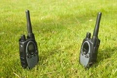 Two walkie-talkies Stock Photos
