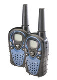 Two walkie talkies, isolated stock photo