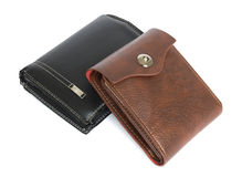 Two wallet old and new.  royalty free stock photos
