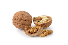 Two walnuts Stock Photos
