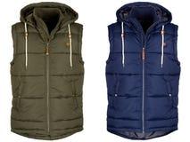 Two warm waistcoat with hood Stock Photography