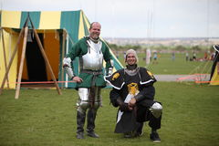 Two Warriors at Celtic Festival Stock Photography