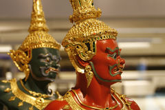 Two warrirors. Two warriors in a place at Bangkok, Thailand Stock Photo