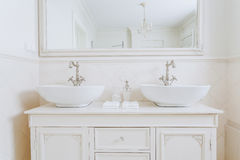 Two washbasins for a couple Royalty Free Stock Photo
