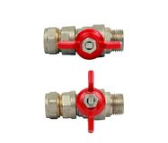 Two Water ball valves isolated Royalty Free Stock Images